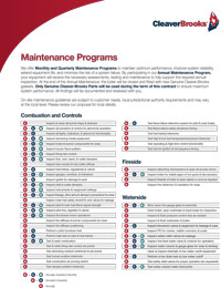 Boiler Maintenance Plan