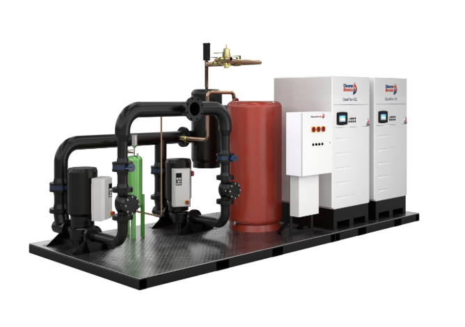 Skid mounted hydronic boiler system