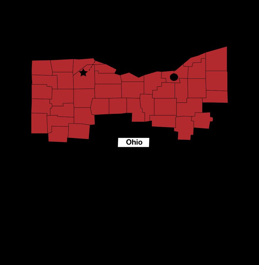 Energy Control Territory in Northern Ohio