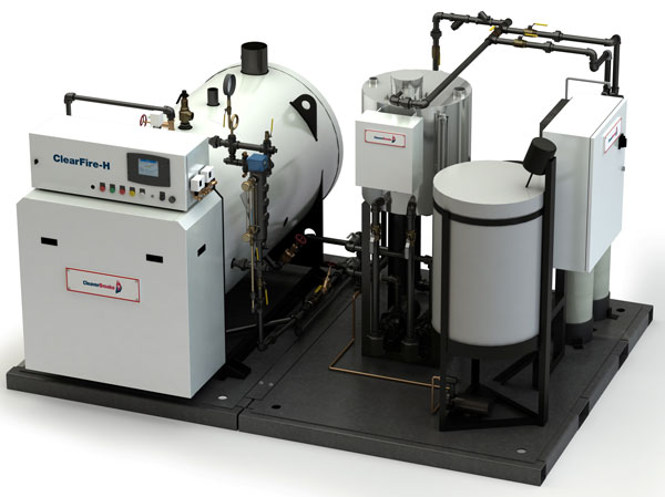 Skid mounted steam boiler system